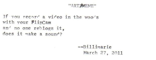 """""""Art/Meme"""" by billimarie"""