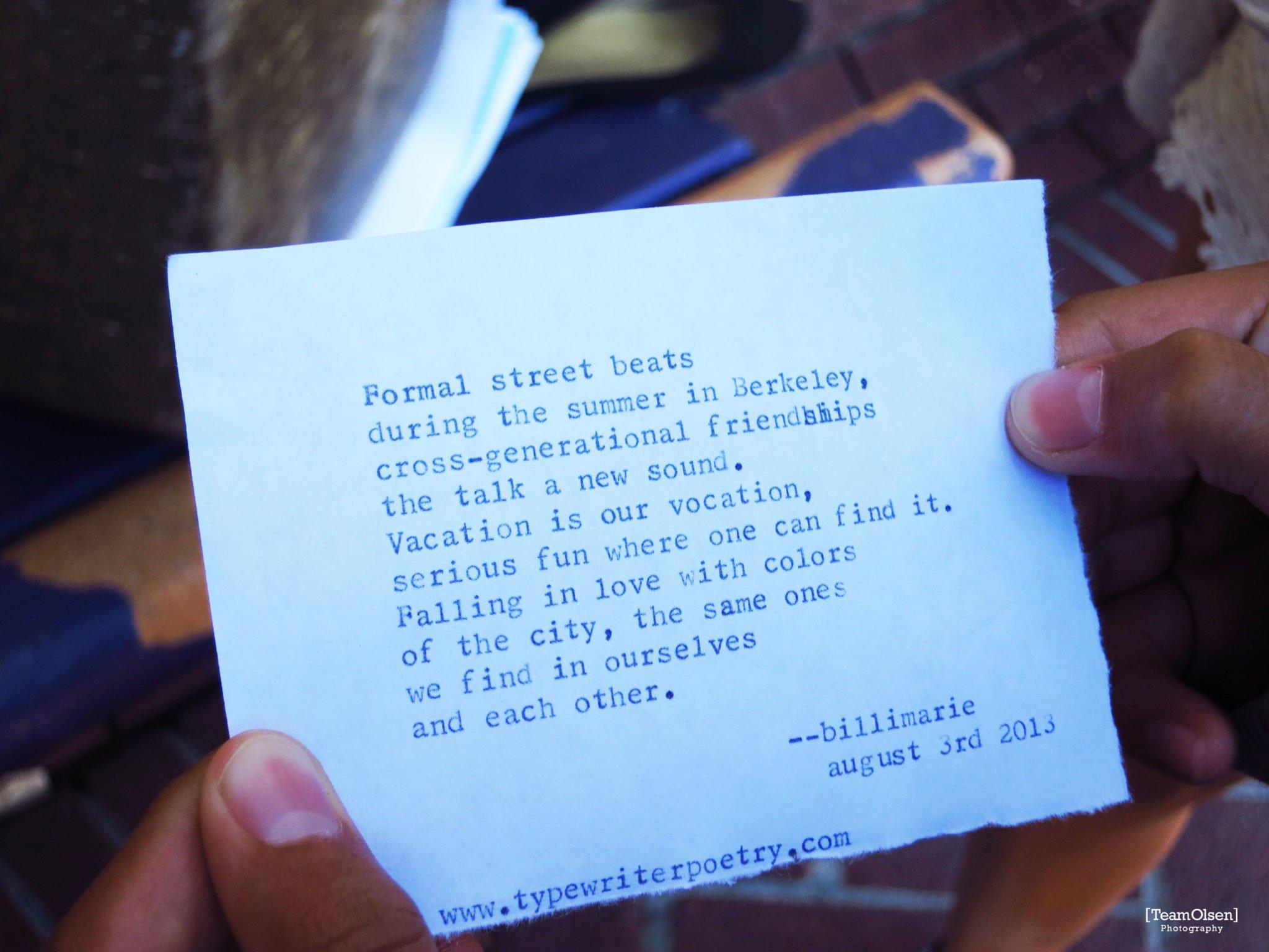 Typewriter Poetry Poem Family