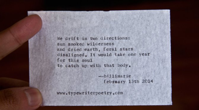"""We drift in two directions"""