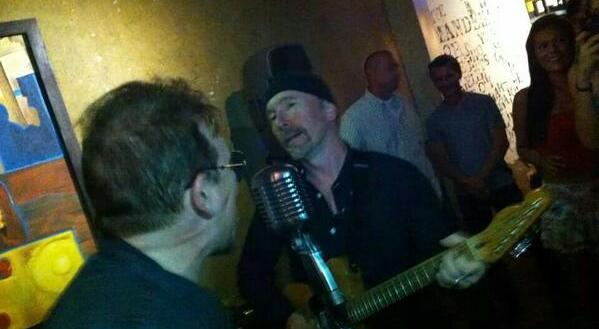 Bono and The Edge in San Jose del Cabo, Mexico