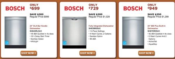 Bosch Dishwashers