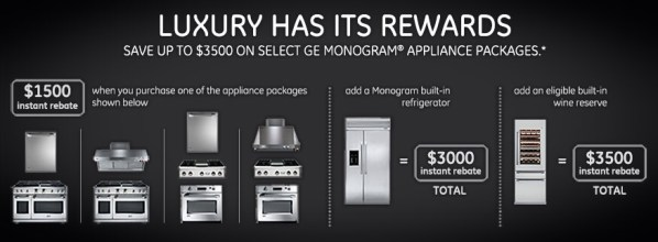 GE Monogram Rebates