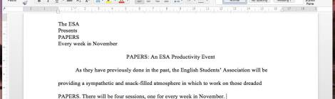 PAPERS: Productivity with the ESA