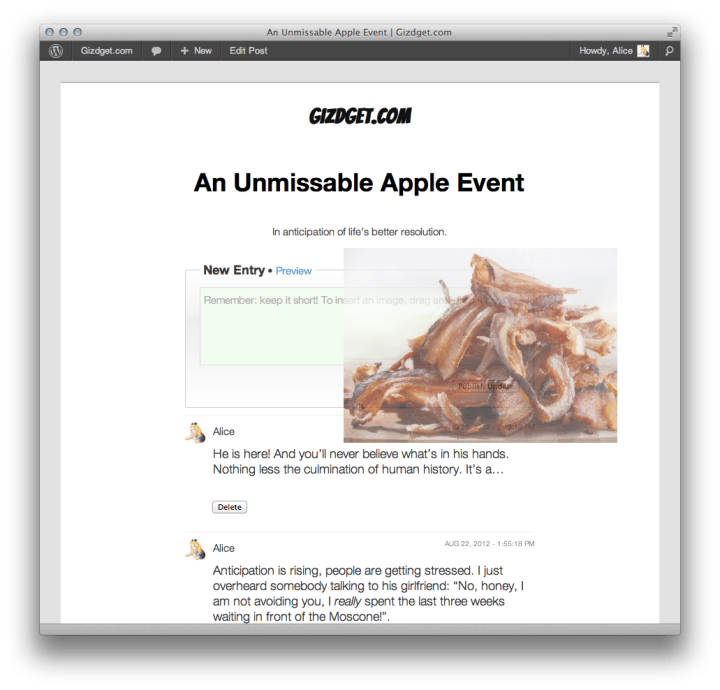 Actualizando el blog en tiempo real