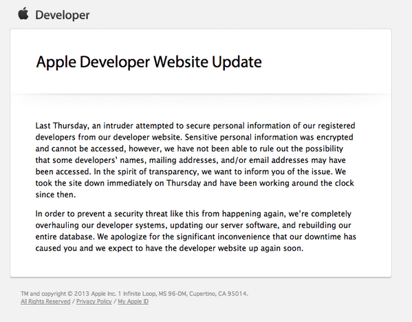apple developer center hackeado