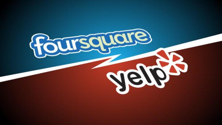 foursquare vs yelp