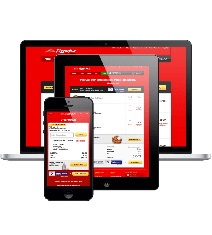 pizzahut visa checkout