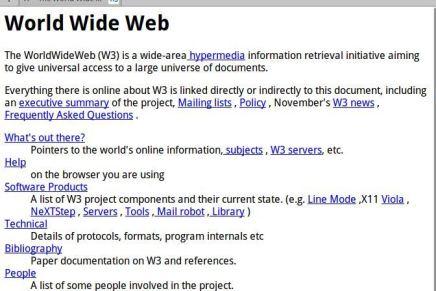 La primera página Web cumple 25 años