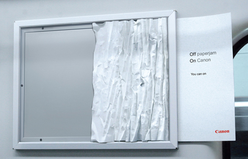 Creative Outdoor Advertisement Design - Canon Paper Jam