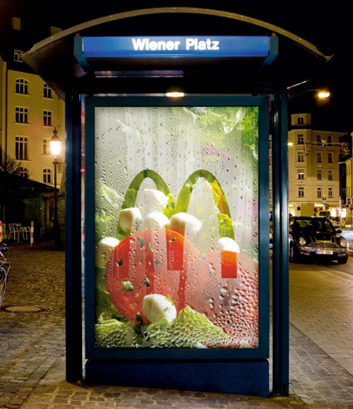 Creative Outdoor Advertisement Design - McDonalds Salad