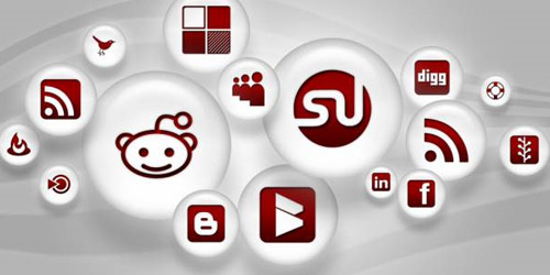 White Pearl Social Media Icons