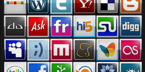Bookmarks And Social Icons