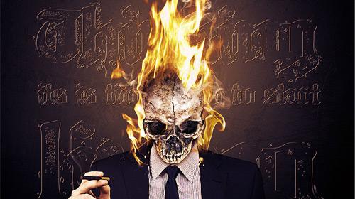 flaming skull manipulation