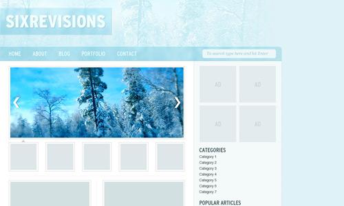 winter theme web design