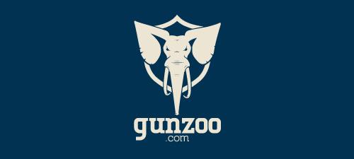 gun zoo animal logo design