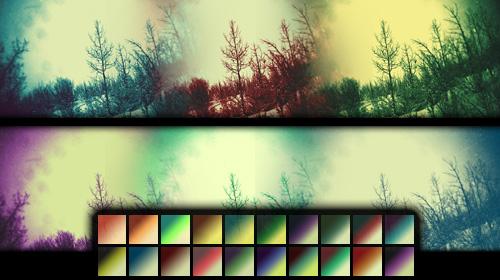 cool vintage gradient photoshop