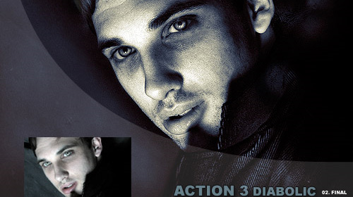 photoshop action diabolic