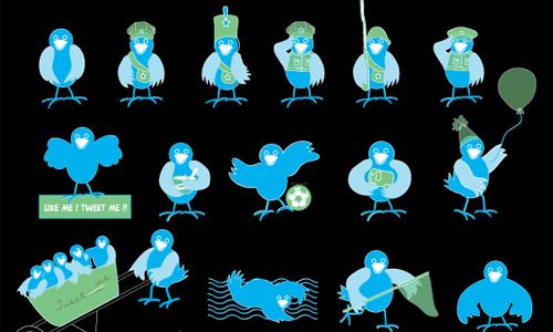 cute twitter birds