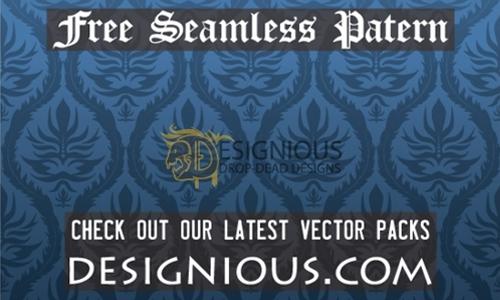 free damask pattern