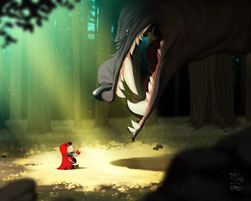 digital-painting-04-little-red-riding-hood