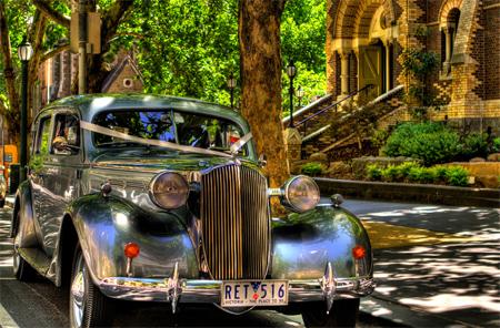 Wedding Car on Collins