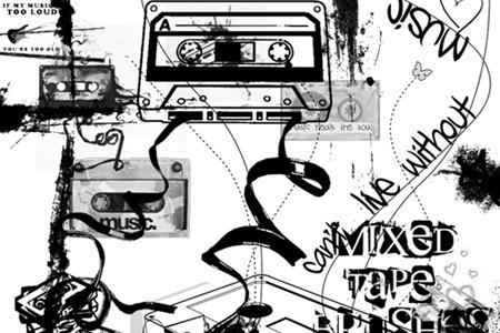 music-photoshop-brushes-04-Mixed-Tape-Brushes