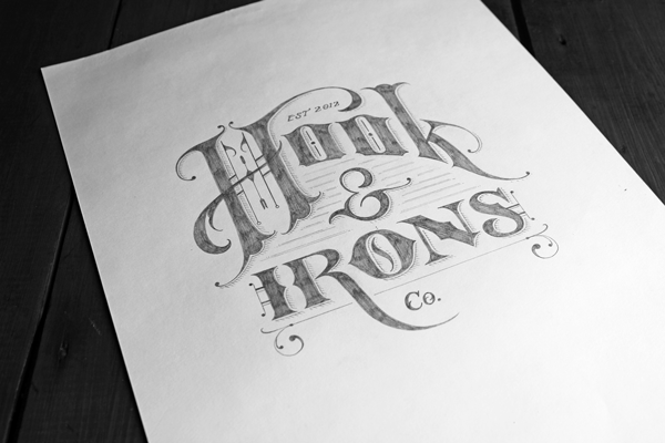 Hook & Irons, Co. Branding by Ginger Monkey via YouTheDesigner