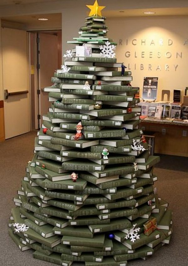 Book Christmas tree via You The Designer