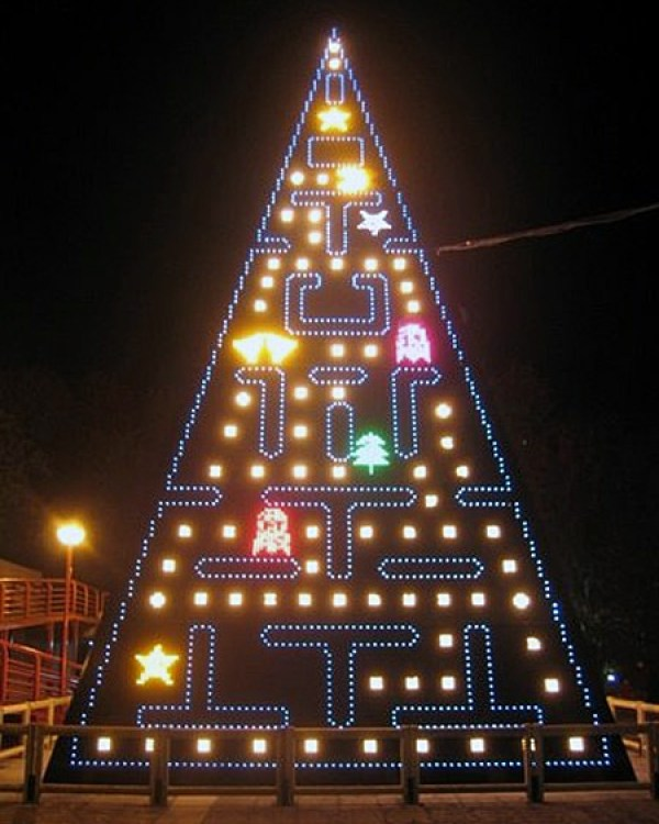 Pacman Christmas Tree via You The Designer