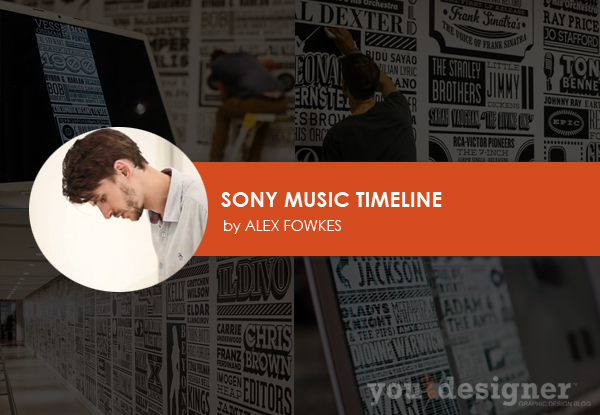 Sony Music Timeline by Alex Fowkes
