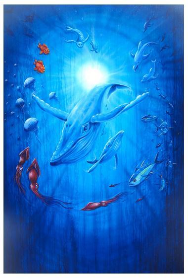 Ocean Institute water painting | (c) Drew Brophy
