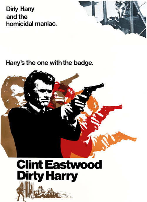Dirty Harry poster design by Bill Gold