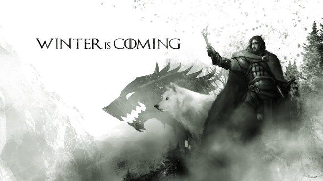 Jon Snow and Ghost - Digital Illustration by Darren Geers