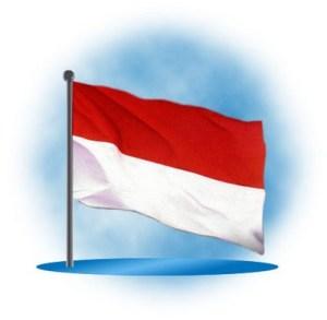 lukisan bendera Merah Putih
