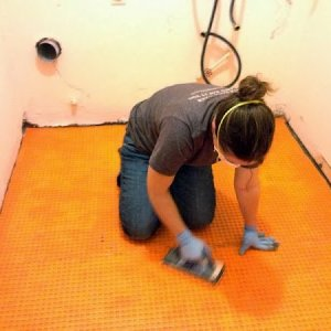 How to Tile Over Concrete Subfloor