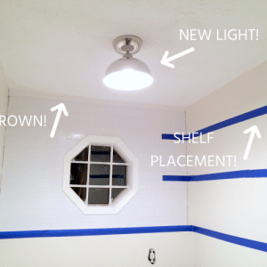 Determining Shelf Placement in the Laundry Room