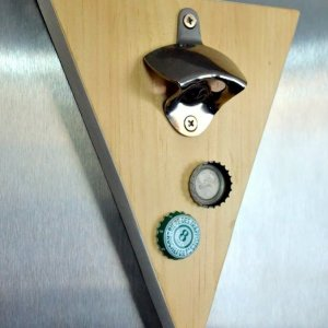 scrap wood challenge magnetic wall mounted bottle opener