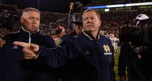 Brian Kelly and Notre Dame will meet Alabama on January 17th to determine this year's National Champion.