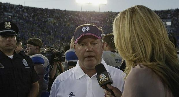 Notre Dame's Brian Kelly, Air Force 2011