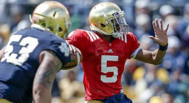 Everett Golson - 2013 Blue Gold Game