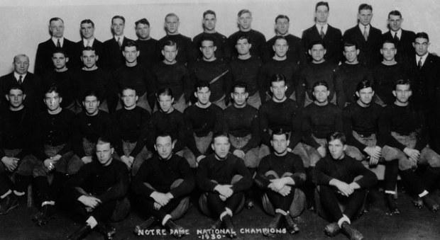Notre Dame 1930 National Championship Team