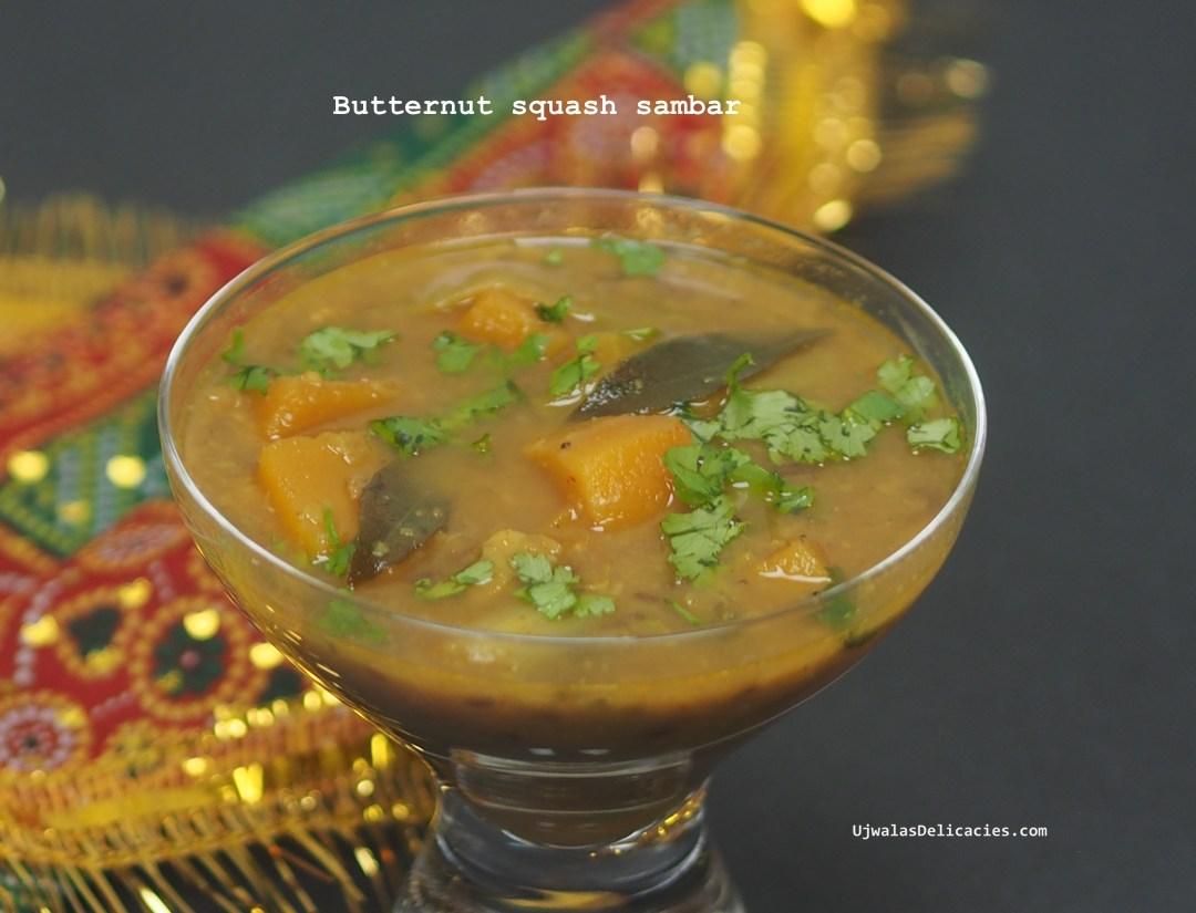 Butternut squash sambar
