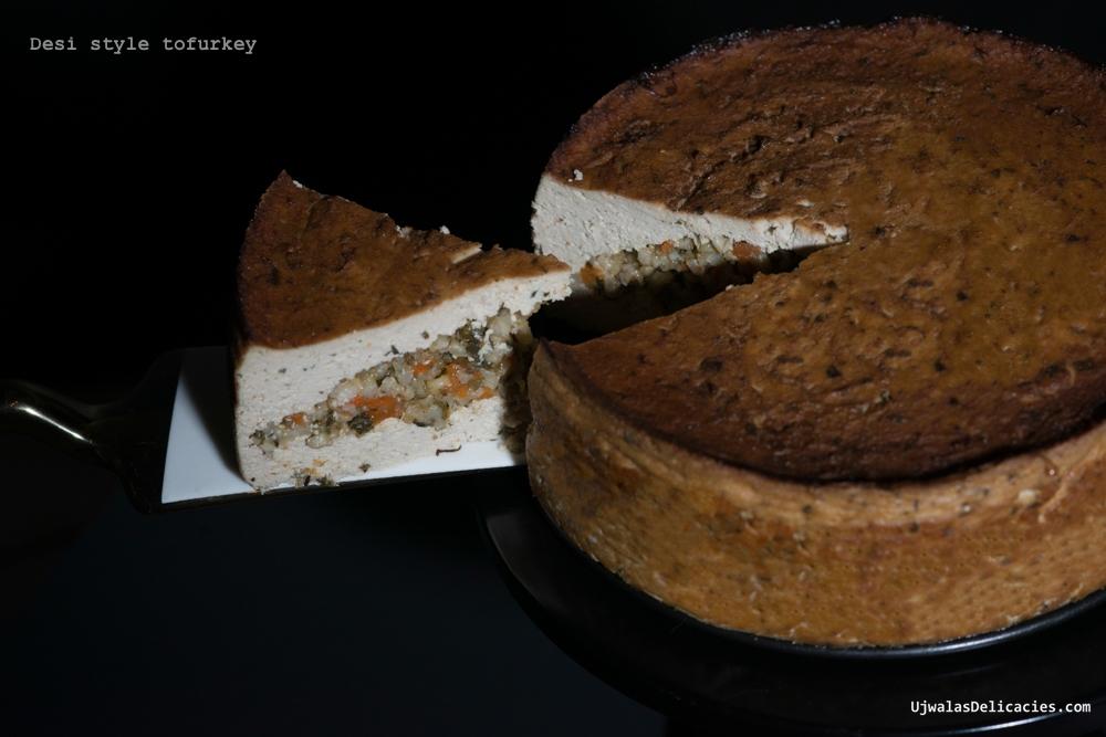 Desi style all vegetarian homemade tofurkey