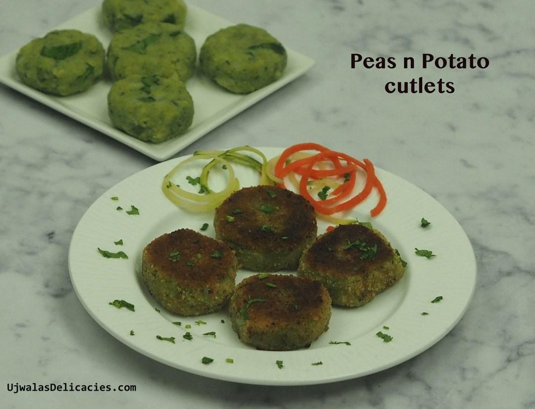 Peas n potato cutlets