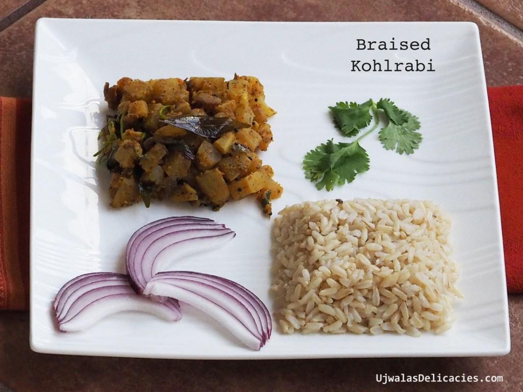 Braised Kohlrabi