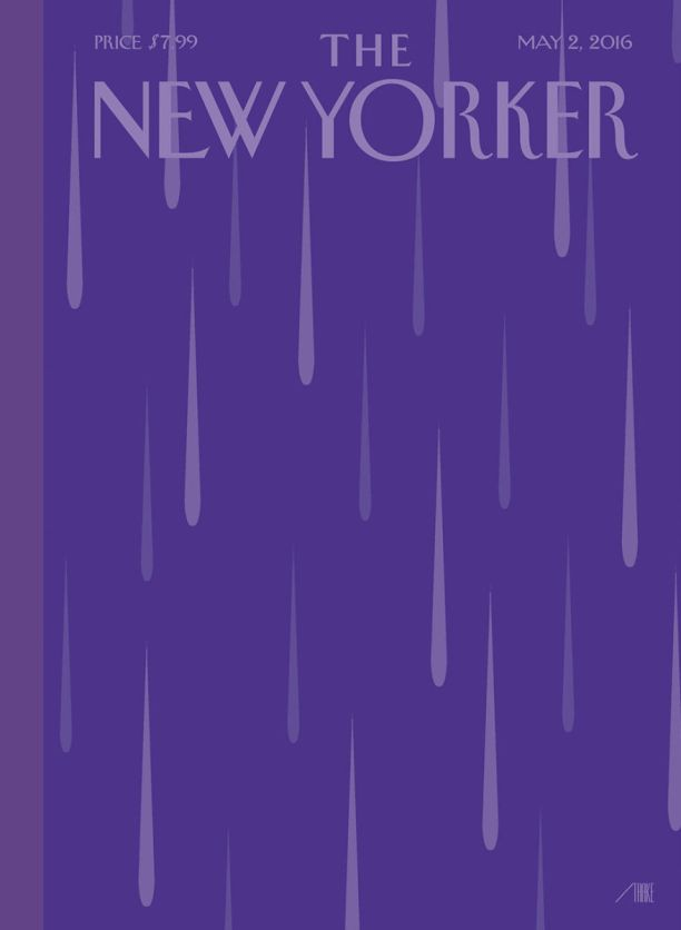New Yorker magazine honors prince with this cover dedicated to him the week after his death.