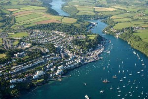 Fowey from the air