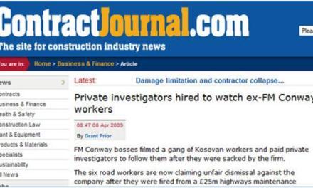 Punëtorët shqiptarë ishin përcjellur nga detektivët