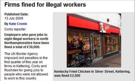 Gjobiten biznese britanike, punësuan punëtorë ilegalë
