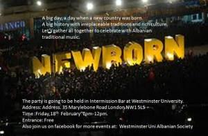 Kosova Independence Party by Westminster University Albanian Society, 18 February 201